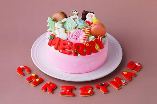 アイシングクッキーケーキ 5号 いちご クリスマスケーキ2020