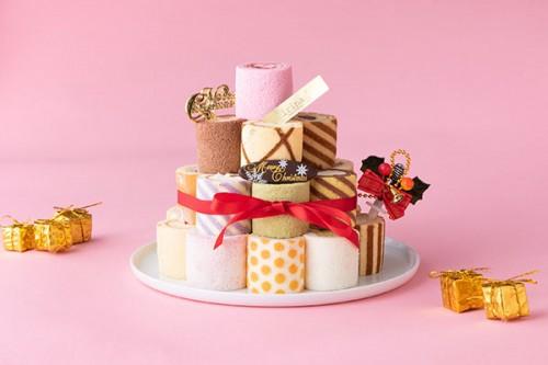 クリスマス限定 25種ロールケーキタワーキット4段(25個入)