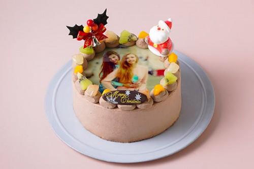 クリスマス2020 写真ケーキ チョコ生 丸型 5号 15cm