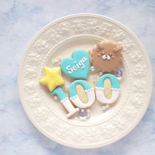 100日祝いアイシングクッキー