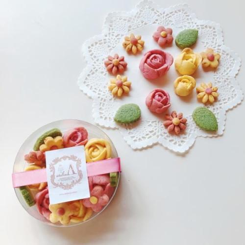 鹿児島特産フルーツ使用森のかわいいお花のクッキーBOX お中元2021