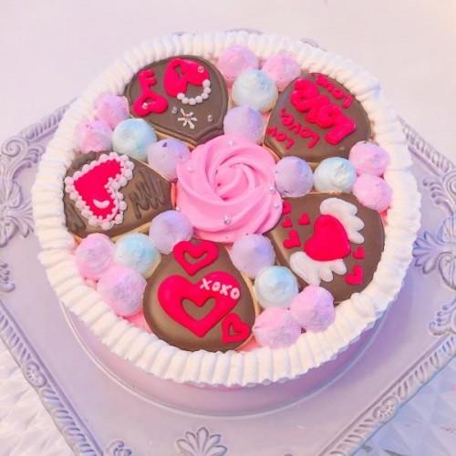 loveケーキ アイシングクッキー