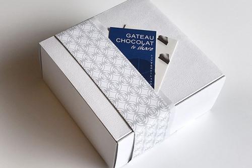 <ギフト>定番デザインパッケージ【シェアするガトーショコラ】 4号 12cm