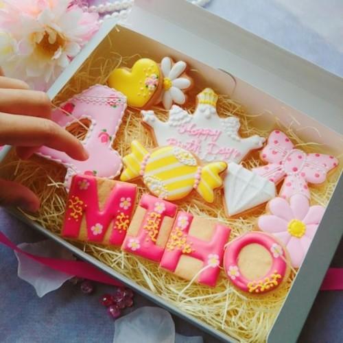 女の子アイシングクッキーセット