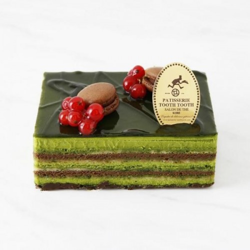 ~お店の味をそのままに。PATISSERIE TOOTH TOOTHのお取り寄せケーキ~抹茶のオペラ 4号 12cm
