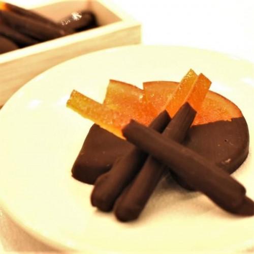 ~琥珀色に透き通った美しい見た目のショコラ菓子~バードフリュイ&オランジュ~