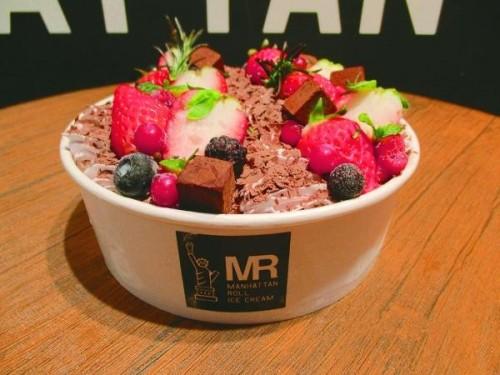 MR特製ショコラロールアイスケーキ