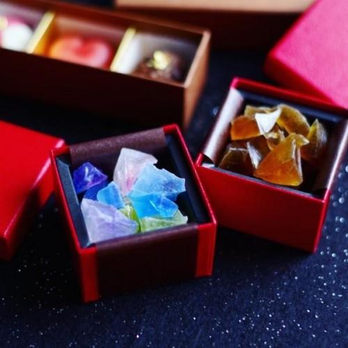 魔法の琥珀糖(プレーン) 赤い小さなギフトBOX