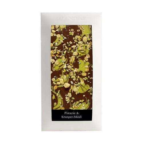 ピスタチオ&クランキーシリアル タブレットチョコレート(Pistachio & Crunchy Cereal)