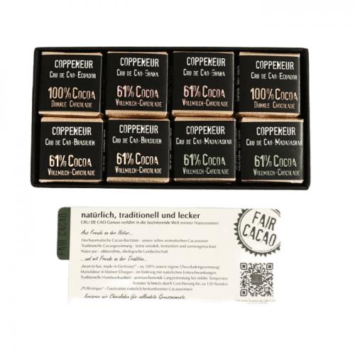 ミニタブレット ナイトチョコレート5g×16枚(CRU DE CAO Napolitains Napolitain-Set)