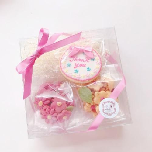 フリーメッセージアイシングクッキー&お花のクッキーBOXセット