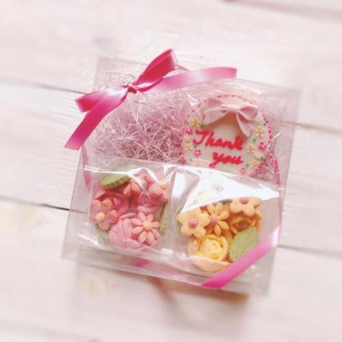 フリーメッセージ&お花のクッキーBOXセット お中元2021 父の日2021