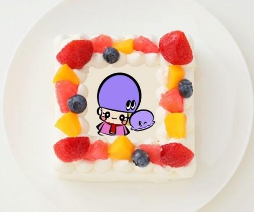 【アジーンTV】四角型写真ケーキ 4号 12cm