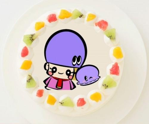 【アジーンTV】丸型写真ケーキ 3号 9cm