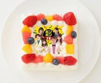 【ボンボンTV】四角型写真ケーキ 4号 12cm