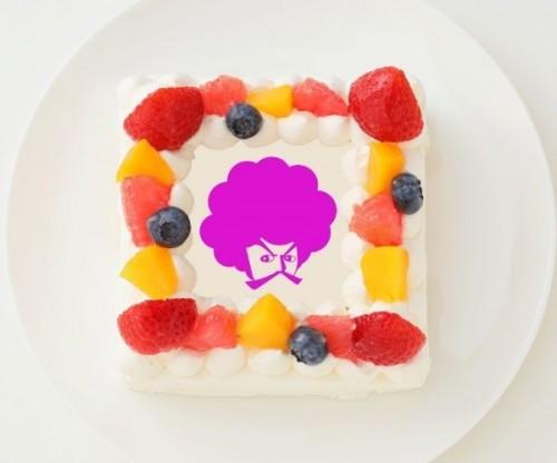 【こーじTV】四角型写真ケーキ 4号 12cm