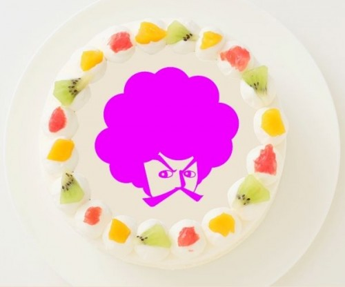 【こーじTV】丸型写真ケーキ 3号 9cm