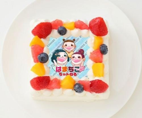 【はまちこちゃんねる】四角型写真ケーキ 4号 12cm
