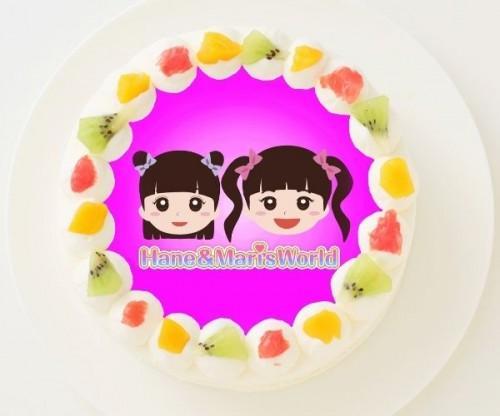 【はねまりチャンネル】丸型写真ケーキ 3号 9cm