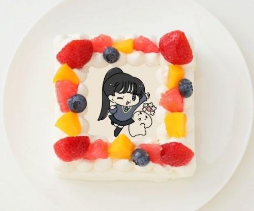 【1D&ゆーぽん】四角型写真ケーキ 4号 12cm