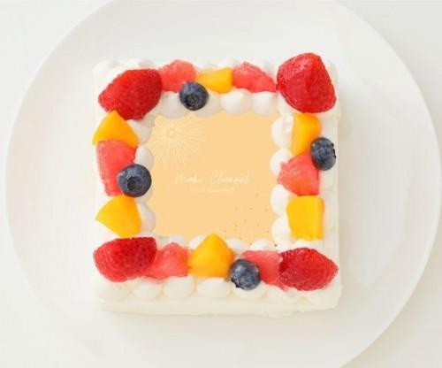 【池田真子】四角型写真ケーキ 4号 12cm