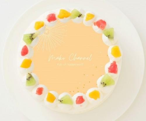 【池田真子】丸型写真ケーキ 3号 9cm