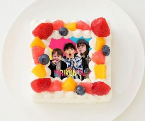 【いおりくんTV】四角型写真ケーキ 4号 12cm