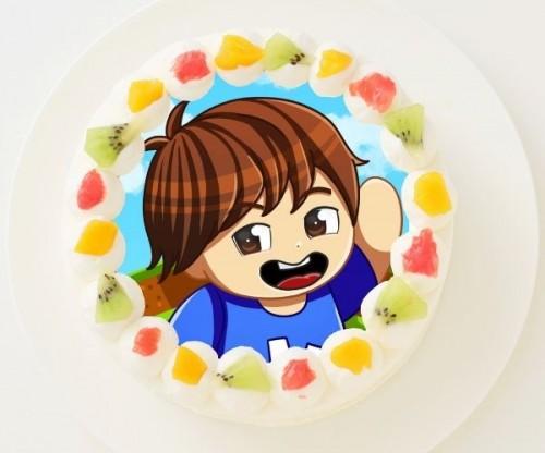 【かーぼん】丸型写真ケーキ 3号 9cm