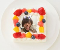 【かっちゃん】四角型写真ケーキ 4号 12cm