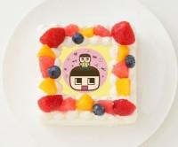 【ミラクルぐっち】四角型写真ケーキ 4号 12cm