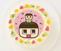 【ミラクルぐっち】丸型写真ケーキ 3号 9cm