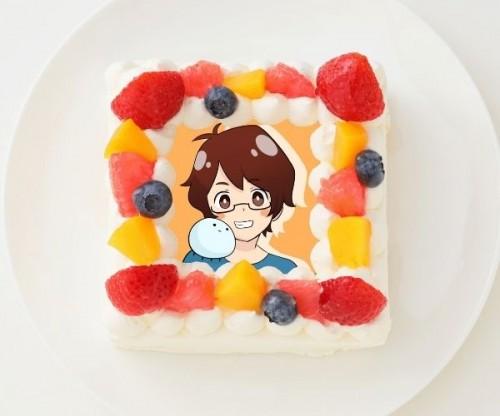 【mkのゲーム実況ch】四角型写真ケーキ 4号 12cm