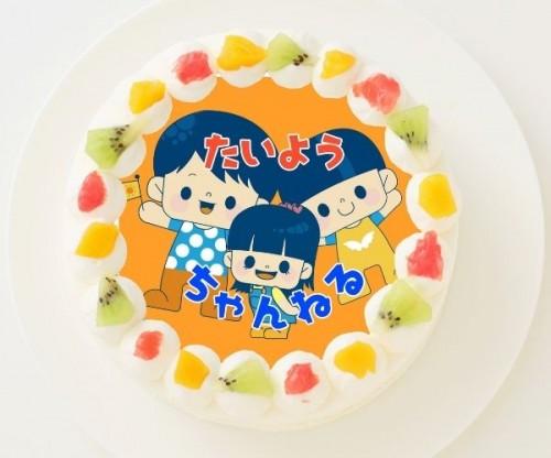 【太陽チャンネル】丸型写真ケーキ 3号 9cm
