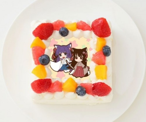 【たくっち】四角型写真ケーキ 4号 12cm