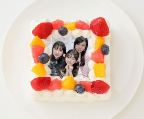 【ゆわももチャンネル】四角型写真ケーキ 4号 12cm