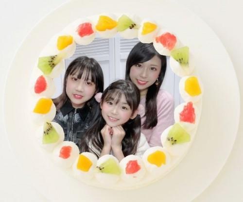 【ゆわももチャンネル】丸型写真ケーキ 3号 9cm