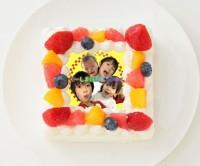 【だーしま動画チャンネル】四角型写真ケーキ 4号 12cm