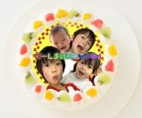 【だーしま動画チャンネル】丸型写真ケーキ 3号 9cm