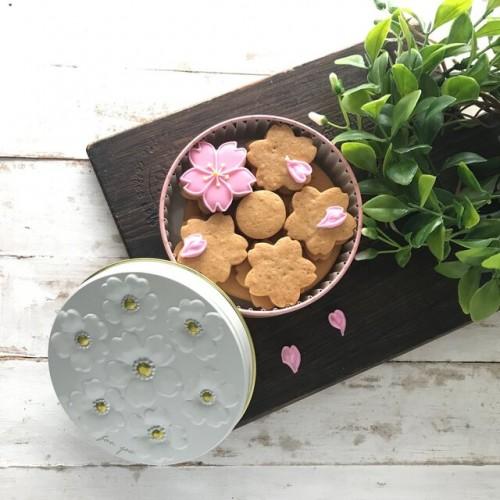 さくらアイシングクッキー缶(プレーン)