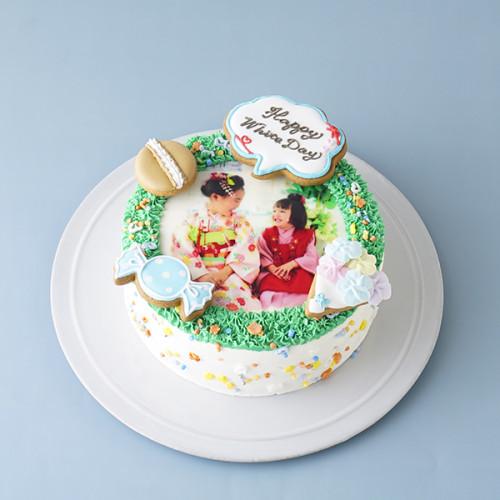 ホワイトデー限定!フォトリースケーキ~飾りつけを楽しんで