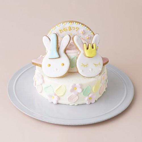 ひなまつりケーキ 4号(12cm)2段 名入れ可