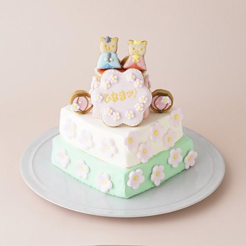 ひなまつりケーキ (12cm) スクエア 3段 名入れ可