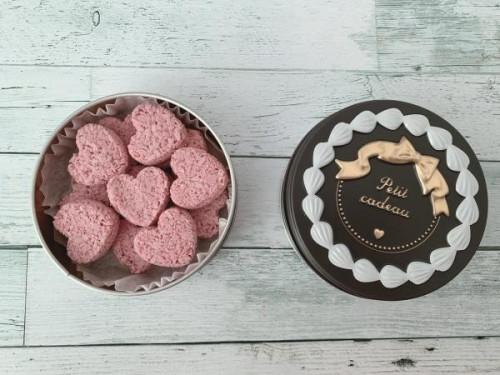 ピンクハートのチョコ菓子♡ショコラ缶 ひな祭りやホワイトデーにも♡