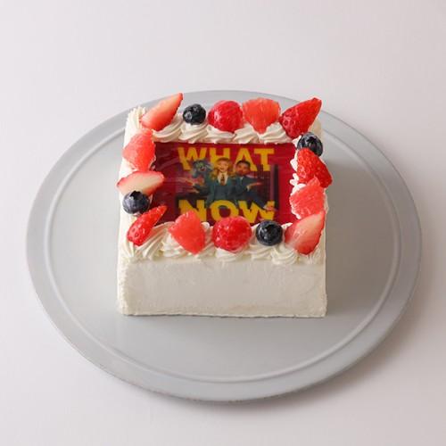 【3/19実写映画公開記念!トムとジェリー】四角型写真ケーキ 4号 12cm