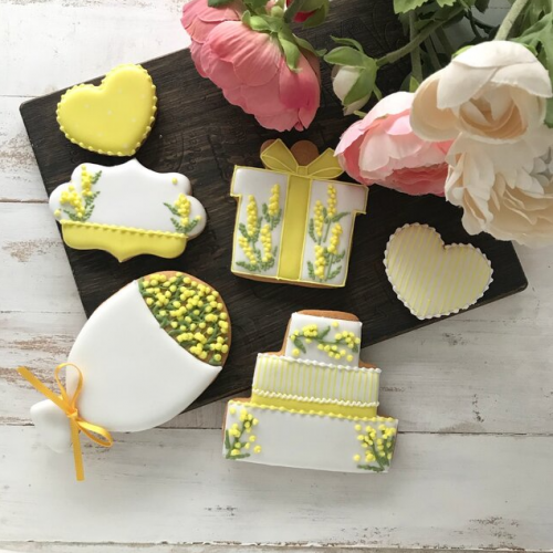 【誕生日・結婚祝にオススメ】ミモザのアイシングクッキーセット