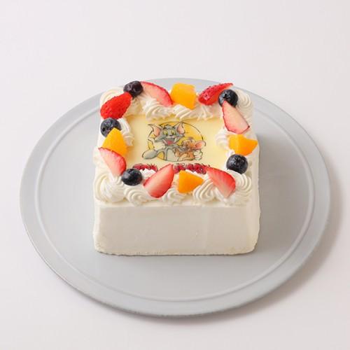 【トムとジェリー】四角型写真ケーキ 4号 12cm