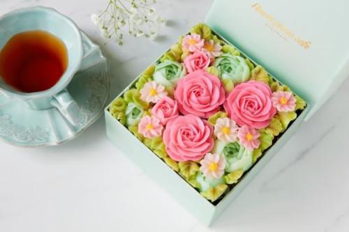『食べられるお花のケーキ』 【Spring Garden】ボックスフラワーケーキ