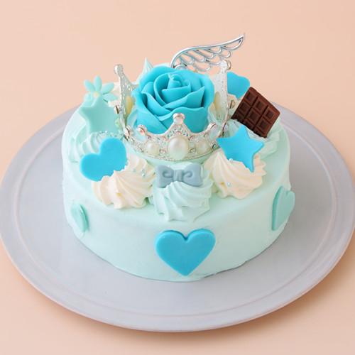 ティアラとローズのケーキ ブルータイプ 5号