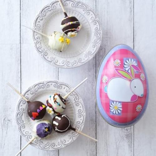 おすすめポップケーキ+シルバークレイン缶(たまご)入り4本セット ピンク