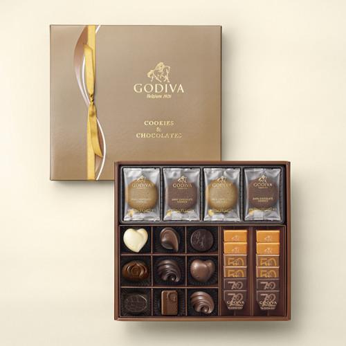 【GODIVA】クッキー&チョコレート アソートメント(クッキー8枚 チョコレート21粒)